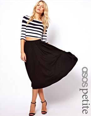 ASOS PETITE Full Midi Skirt