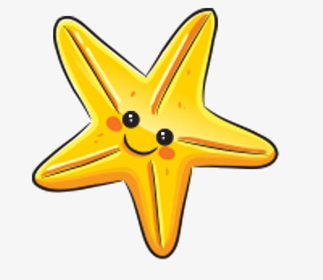 Starfish yellow PNG File.