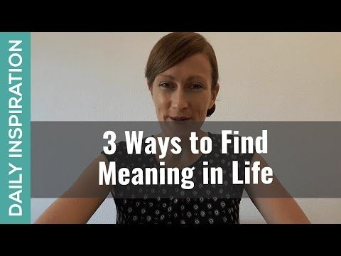 3 Ways to Find Meaning in Life ❤ SUBSCRIBE ❤ http://www.youtube.com/subscription_center?add_user=pinchmelivingdotcom)    Why do we all CRAVE to find meaning in life? And HOW do we find it? Here are 2 big reasons we crave it + 3 ways to add meaning and depth to your life right now.