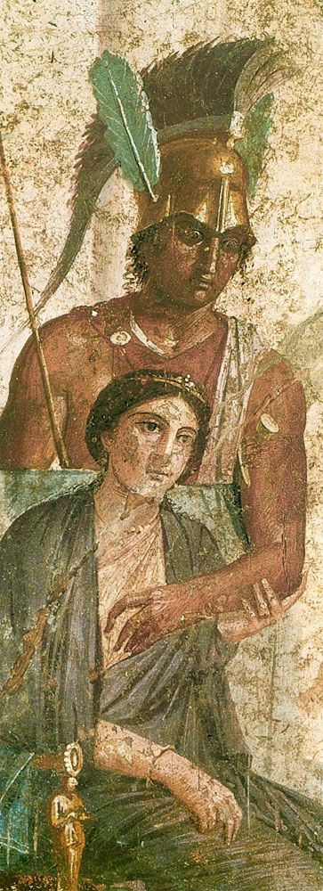 Ares and Aphrodite; from Pompeii- Napoli, Museo Archeologico
