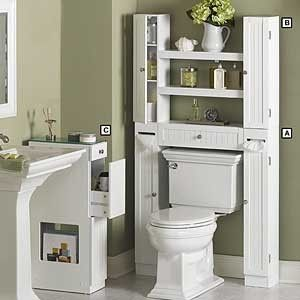bathroom cabinets over toilet storage