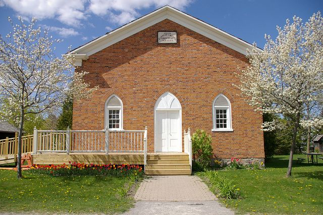 The old chapel on the grounds of the Markham Museum in Ontario, Canada. A fantastic spot for #weddings!