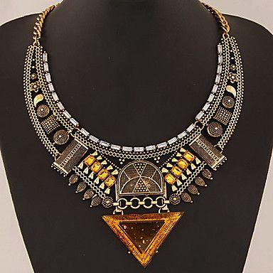 Femme Col Colliers Déclaration Forme Géométrique Forme de Triangle Gemme Alliage Bijoux de déclaration Européen Or Argent Bijoux Pour de 4577179 2017 à €7.83