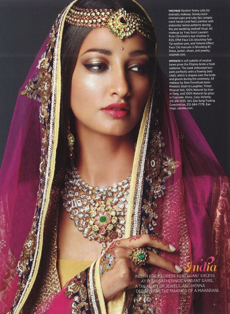 #jewelry. smokey kohl rimmed eyes, ruby lips, Ensemble, inc Kundan Jewelry  by 'Soigne K'  http://soignek.com/  New York, Showcasing the best from the best Indian Fashion Designers,  Indian bridal jewelry