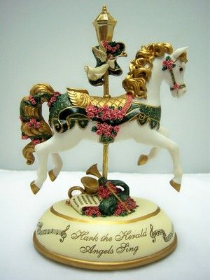 Hark The Herald Angels Carousel Music Box Bradford Exchange | eBay