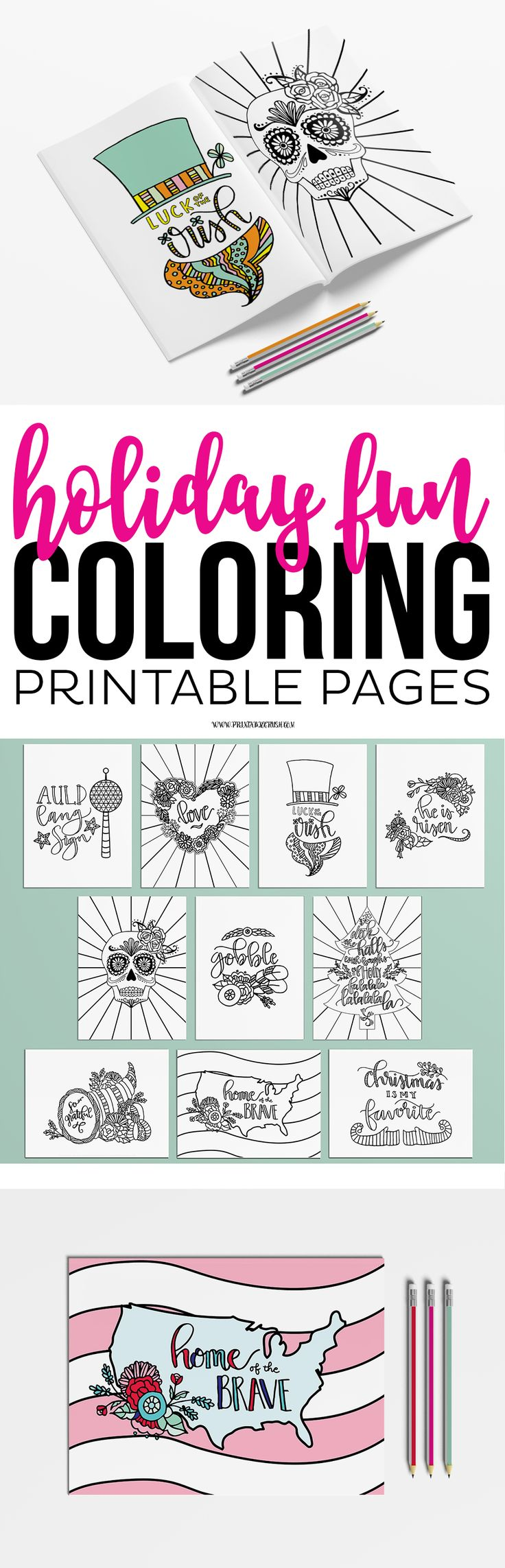 book color me beautiful : Enjoy Coloring These Holiday Coloring Pages For Adults Or Kids Includes 10 Pages For The