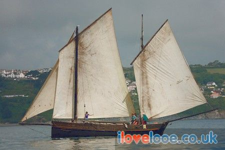 Looe Lugger Regatta photographs of Cornish Luggers in Looe Cornwall