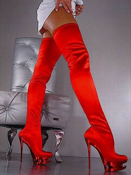 Gianmarco Lorenzi Red Over-knee Boots - $189.59