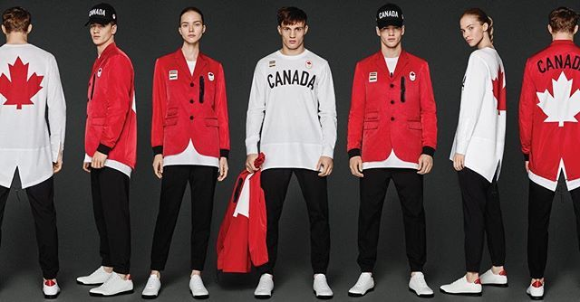 We are proud Canadians! On your Mark, Get Set, GO TEAM CANADA! #teamcanada #dsquared2 #Rio2016 #Canada #HudsonsBay #Dsquared2forHudsonsBay