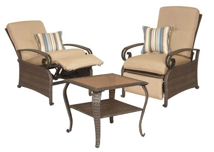 La-Z-Boy Outdoor Two Patio Recliners and Side Table  sc 1 st  Pinterest & 7 best AH Patio Furniture images on Pinterest | Recliners Outdoor ... islam-shia.org