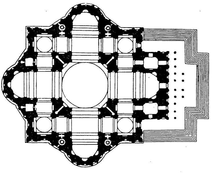 Projekt Michała Anioła 1546 Historia sztuki, Renesans