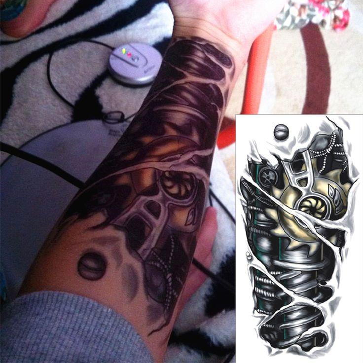 .com : Buy Robot Machine Arm Temporary Body Art Flash Tattoo Stickers ...