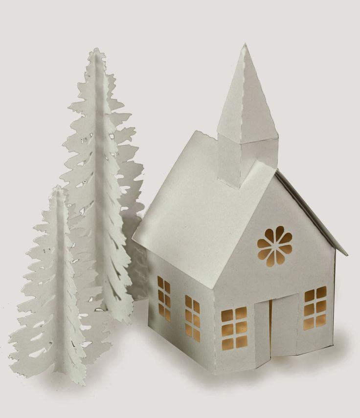 Ashbee Design Silhouette Projects: Tea Light Village Church Tutorial