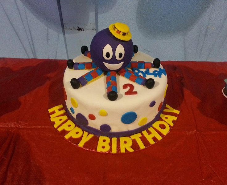 The Wiggles Birthday party! Henry the Octopus cake. the wiggles birthday cake.