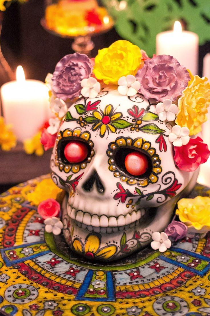 The Book of Life Movie Release Party / Dia de los Muertos Cake by Sarah One Jones