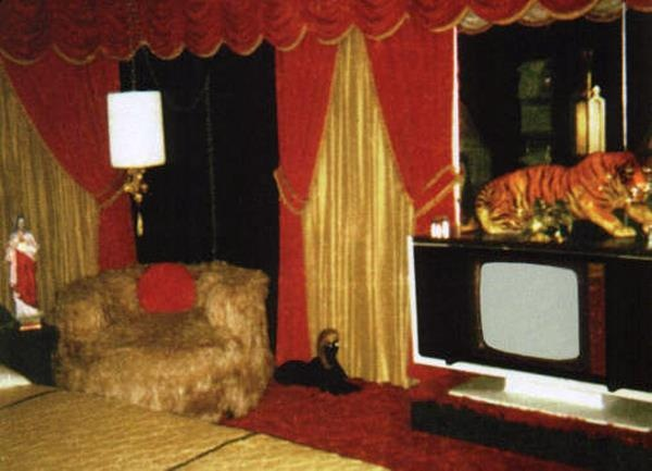 Super rare inside Elvis bedroom 1977, Tiger Man was Elvis' nickname hence the tiger. Picture from the book- Elvis, Linda & Me: Unseen Pictures & Untold Stories from Graceland [Paperback] Jeanne LeMay Dumas (Author)