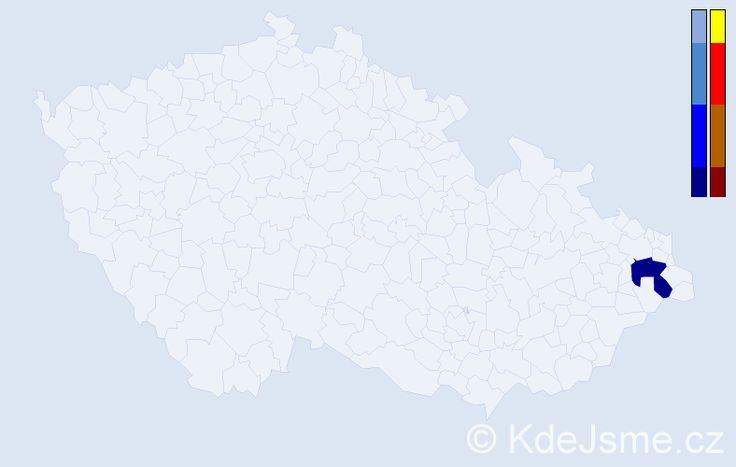 Příjmení: 'Rušitovič', počet výskytů 3 v celé ČR
