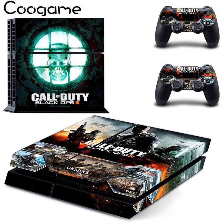 New Black Ops 3 PVC Vinyl Skin Sticker For PS4 Console For Sony Palystation4 Console Controller Cover Decal