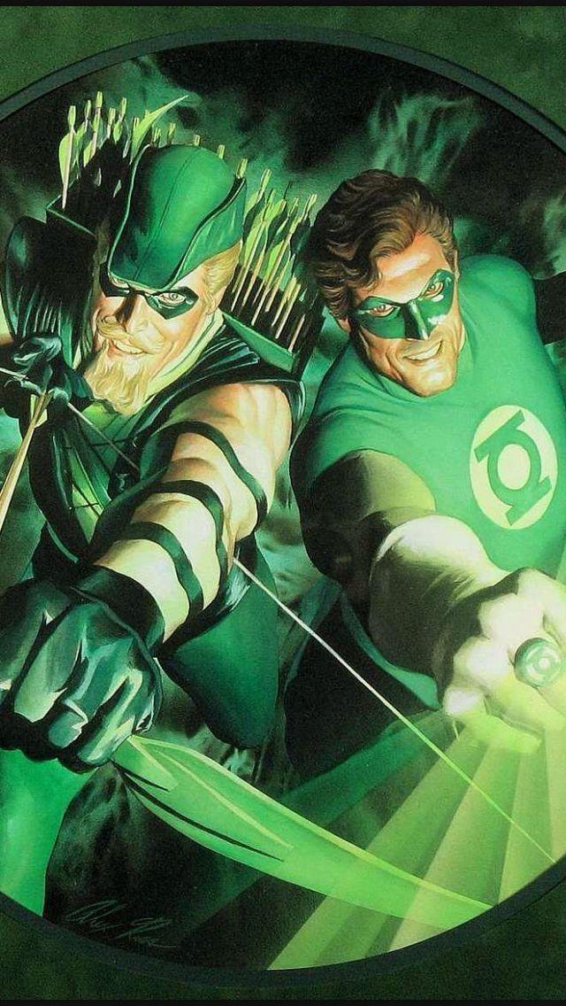 Arqueiro Verde & Lanterna Verde de Alex Ross.