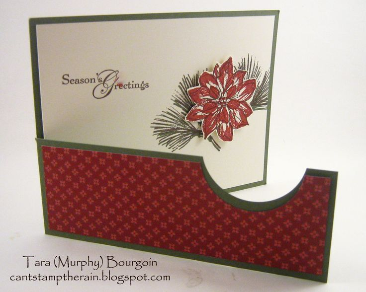 Can't Stamp the Rain: Christmas Stamp-A-Stack cards! Love the layout-interest without a lot of bulk.