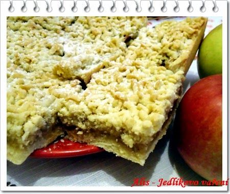 Jedlíkovo vaření: Jablečný strouhaný koláč