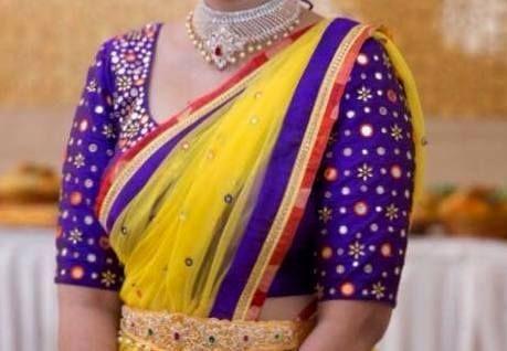 Purple Mirror Work Blouse - collared short sleeve blouse, short sleeve cream blouse, ladies chiffon blouse *sponsored https://www.pinterest.com/blouses_blouse/ https://www.pinterest.com/explore/blouse/ https://www.pinterest.com/blouses_blouse/blouse-designs/ http://www.bluefly.com/women/clothing/tops/blouses