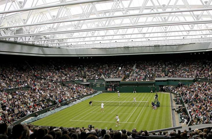 Wimbledon, Centre Court.  Late June to early July.