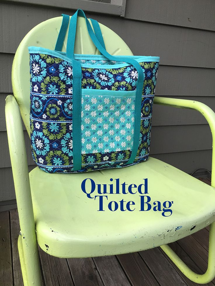 Create a roomy quilted tote to carry all of your groceries and books with style…