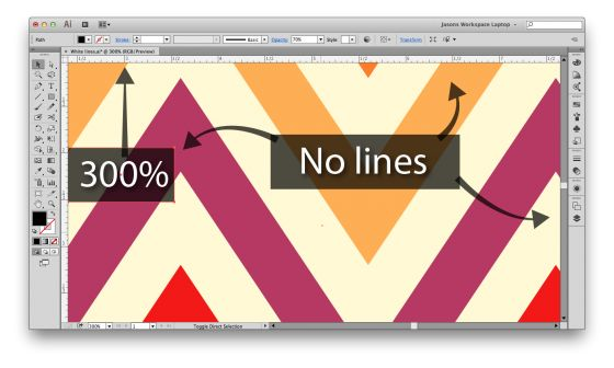 fixing lines in illustrator patterns via fashion classroom