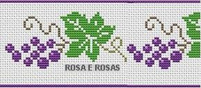 Αποτέλεσμα εικόνας για bordado cruz com uvas