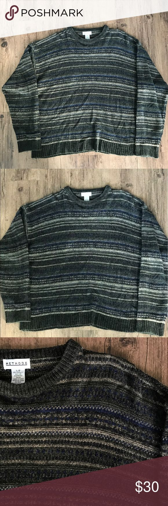 🌿 METHODE SWEATER 🌿 (MENS/WOMENS) 🌿Large methods sweater. Not very thick at all but fits true to size. 🌿    Be sure to check out my website https://jmmycollins.com!    tags: treasure island, polo ralph lauren, yeezy, adidas nmd, thrasher, nike, adidas, supreme, rsvp gallery, ice cream, bape, bbc, billionaire boys club, bbc, chaps, hanes, thrift, thrifted, champion, no flaws, vintage, tommy hilfiger, strapback, dad hat, oversized, boyfriend tee, starter, h&m, rag o rama, women, men…