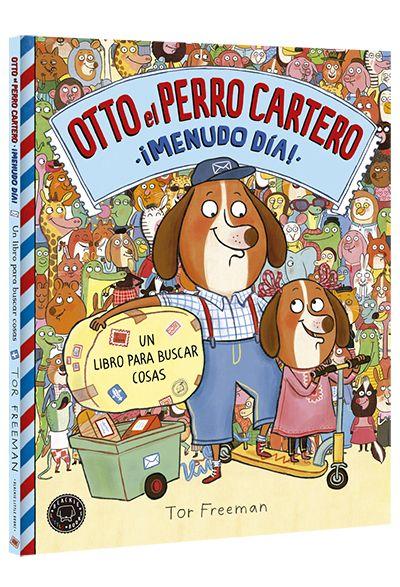 """""""Otto, el perro cartero: Menudo día"""" de Tor Freeman. Después del gran éxito del primer volumen, Otto está más ocupado que nunca y tiene que entregar nuevos paquetes, encontrar a sus destinatarios y localizar objetos escondidos en divertidos escenarios abarrotados de cosas.  Heredera del creador de """"¿Dónde está Wally?"""", Martin Handford, Tor Freeman nos propone un libro lleno de detalles fascinantes que hipnotizarán a grandes y pequeños y te harán reír horas y horas. Signatura: LIBRO-JUEGOS"""