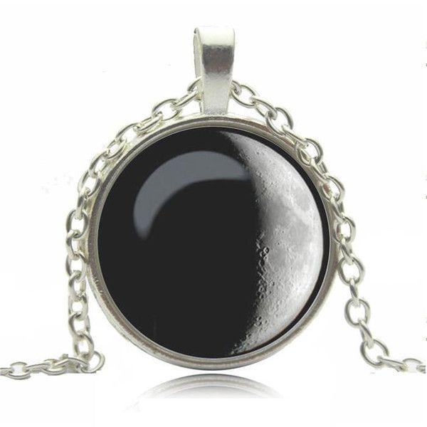 Biżuteria łańcuszek przywieszka księżyc w Schmuck na DaWanda.com