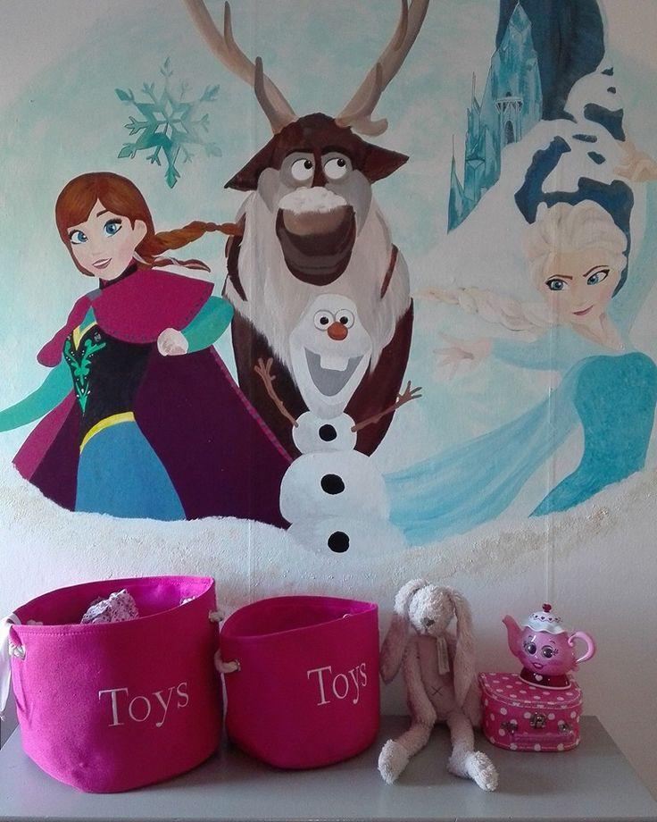 Frozen, Mural, Project K, Acryl, Muurschildering, Art, Illustratie, Disney