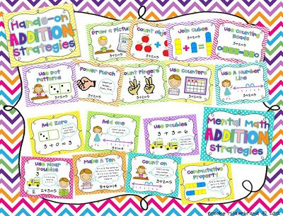 Addition and Subtraction strategy posters from Once Upon a First Grade Adventure $