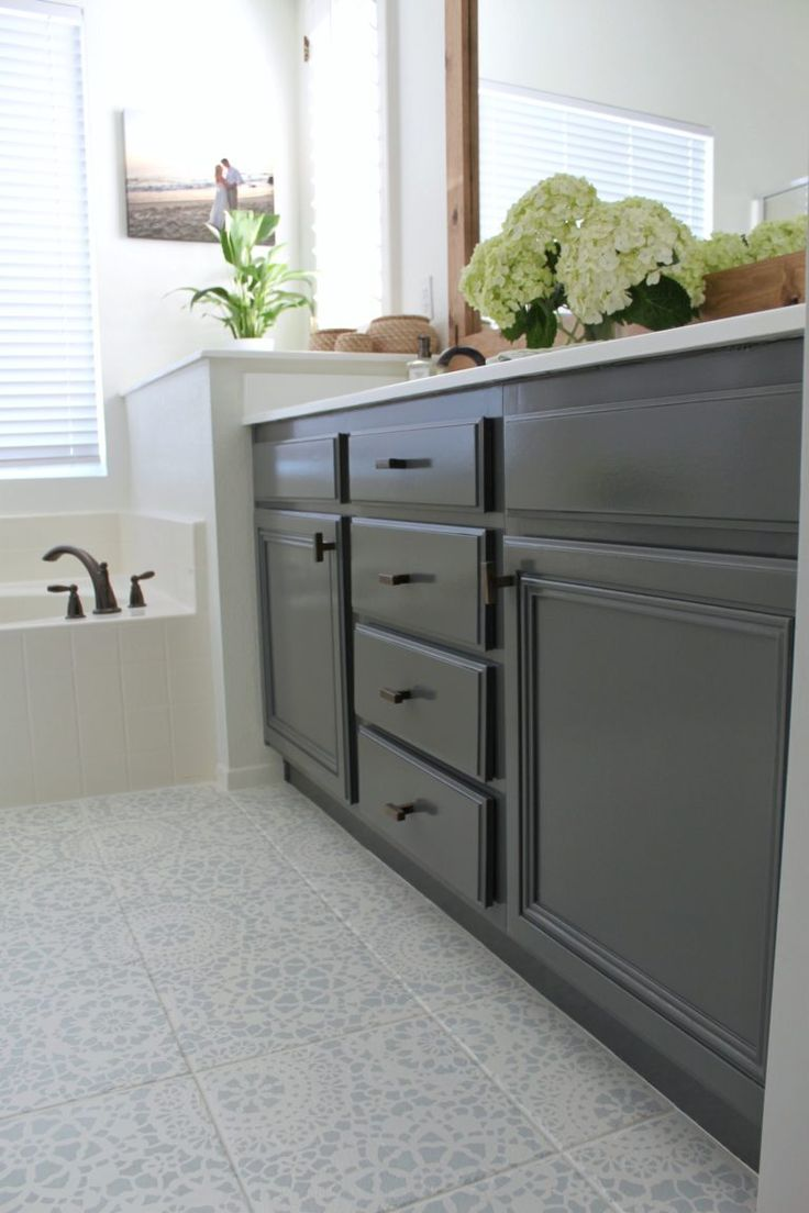 How To Refinish Bathroom Cabinets | Bathroom cabinets, Diy ...