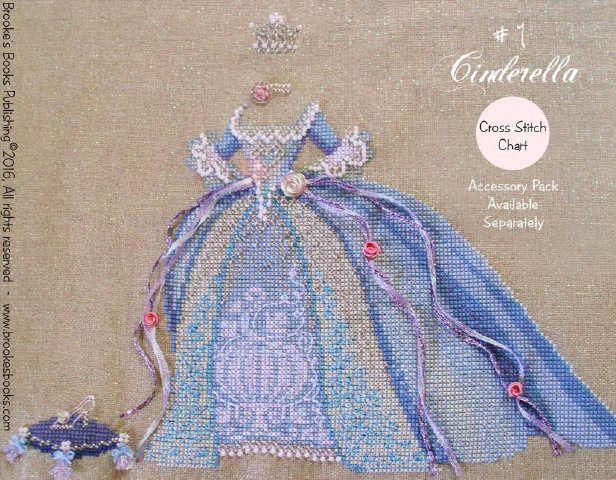 PDF Cinderella Dress Up 1 Fairy Tale Princess cross stitch