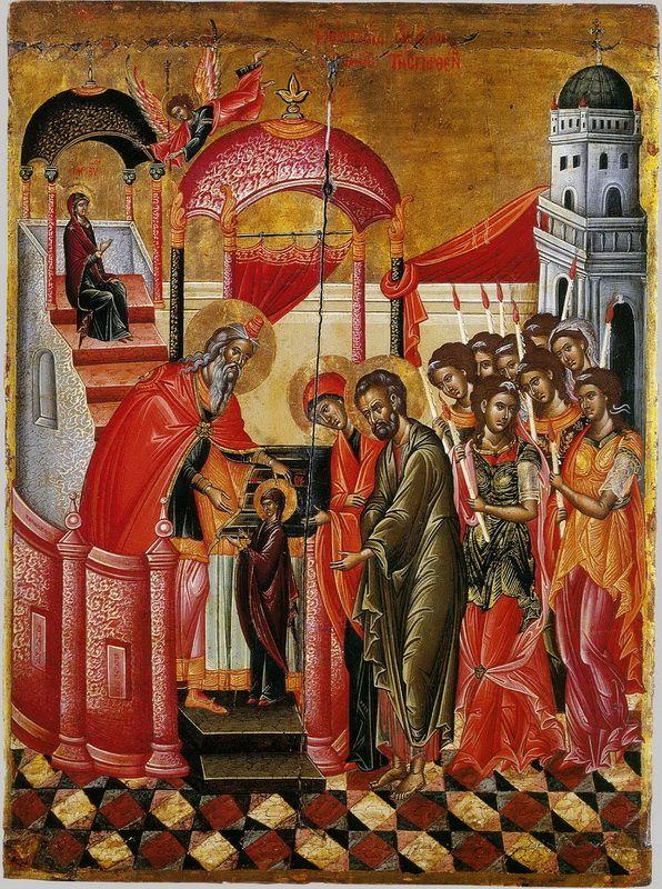 21 novembre: Ingresso della Tuttasanta Madre di Dio nel Tempio