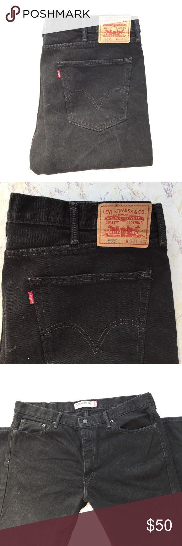 Men's Black 505 Levi's Jeans Cool men's black Levi's 505 straight fit leg jeans in excellent condition! Size 40/32 Levi's Jeans Straight