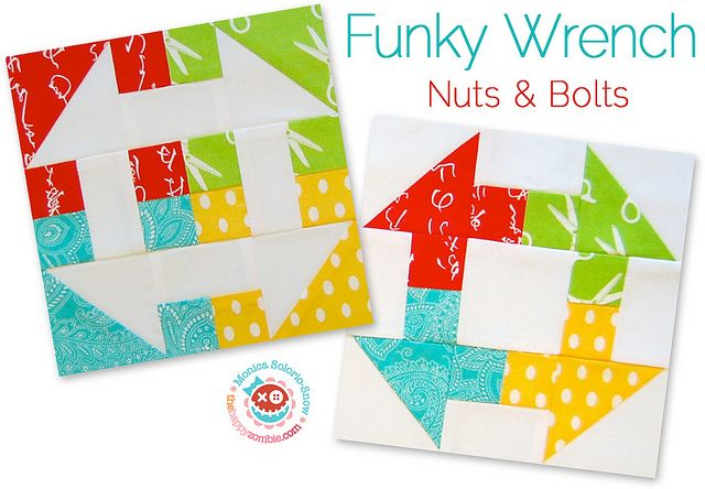 Funky Wrench - Nuts & Bolts (blocks) by Happy Zombie, via Flickr  How fun!