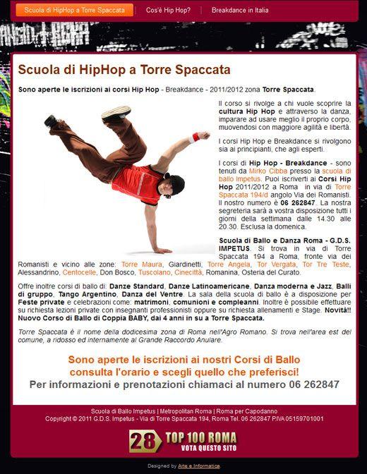 Realizzazione SitoWeb: Scuola Hip Hop Roma