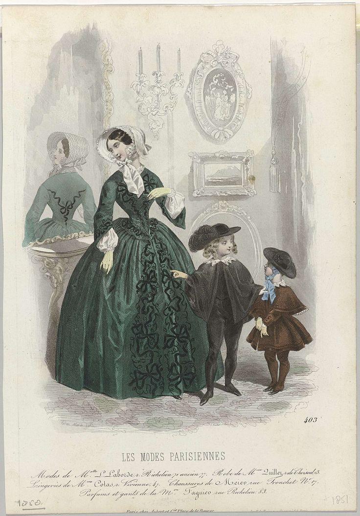 Les Modes Parisiennes, 1851, No. 403 : Modes de Melle L Laborde..., Montaut d'Oleron. Gabriel Xavier, Aubert