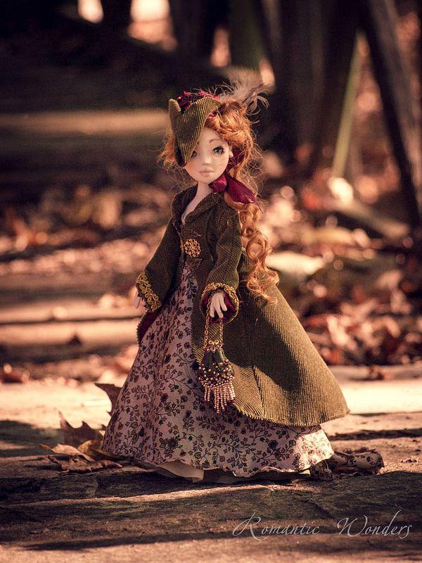 Irene Forsyte Handmade textile doll by Romantic Wonders www.rwdolls.com