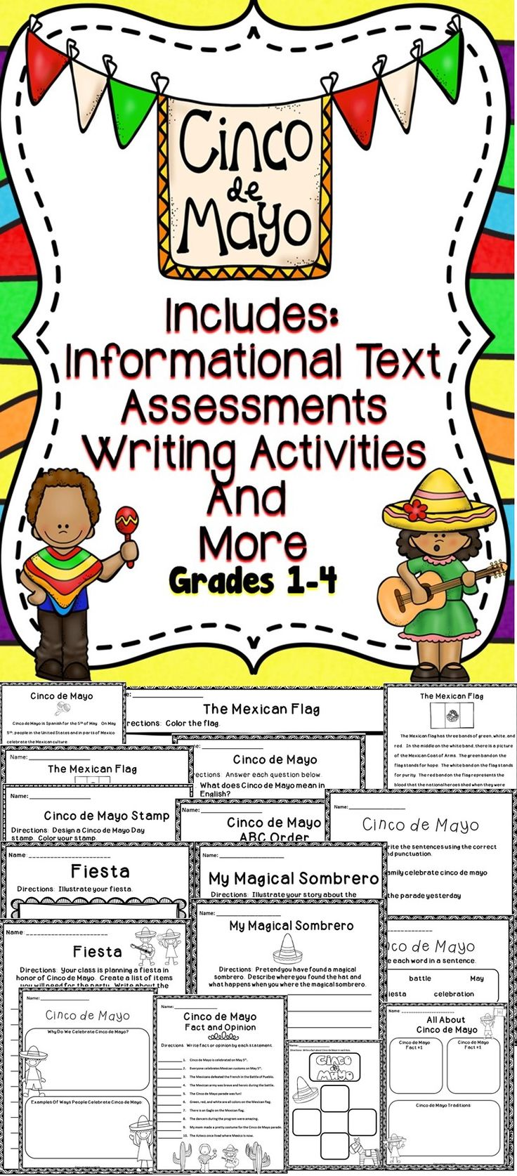 "Celebrate Cinco de Mayo Day In The Classroom With These Fun ""No-Prep"" Activities! #teach"