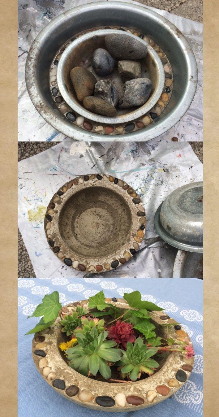 Concrete crock for the garden