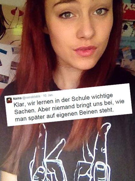 Eine junge Frau kritisiert das deutsche Bildungssystem. Die Diskussion zum Tweet von Naina aus Köln macht klar: Schulen und Eltern sind