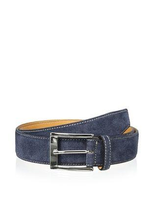 59% OFF Leone Braconi Men's Velour Z Suede Belt (Blue)