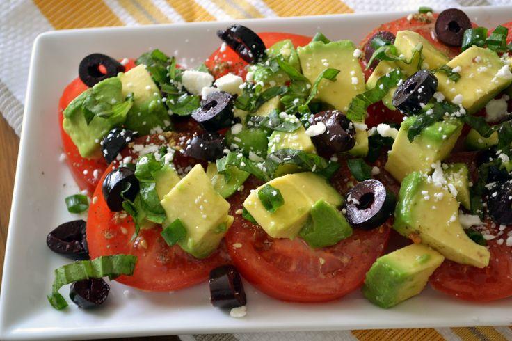 Heart Healthy Recipes Day 1: Tomato and Avocado Salad