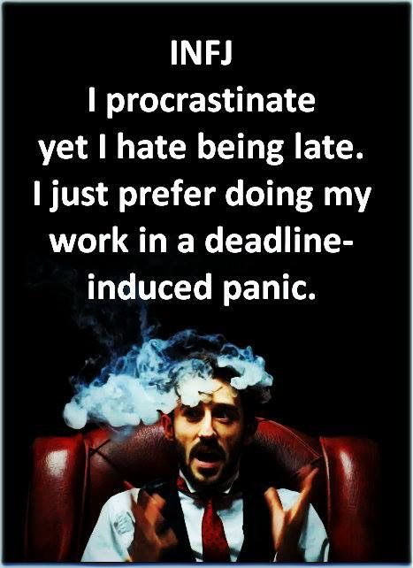 There's a difference between a sprinter & a procrastinator... look it up :D #infj