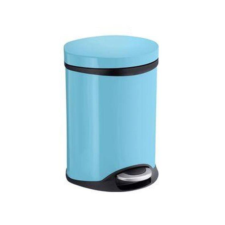 2348 best everything images on pinterest brushed nickel for Blue bathroom bin